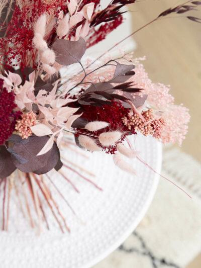 Bouquet de fleurs séchées Pétra rose